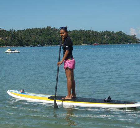 stand up paddleboarding Bang Tao Beach Phuket